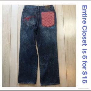 COOGI Retro '90s Men's Embroidered Wide Leg Jeans
